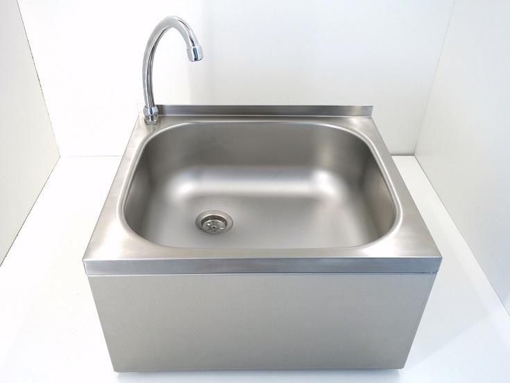 Handwaschbecken mit Kniebedienung R1/2; Edelstahl