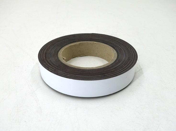 Magnetband/ Magnetfolie 25 mm, weiß
