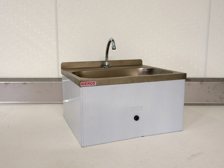 sensorgesteuertes Handwaschbecken R1/2, 24V, Edelstahl