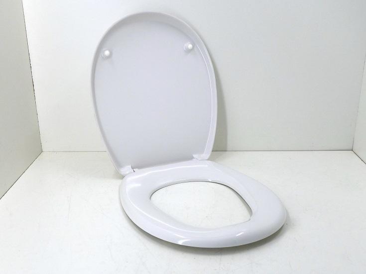 WC-Sitz DIANA, mit Deckel, weiß, Kunststoff